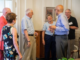 The Ericksons with President Raynard S. Kington and others celebrating the establishment of the endowed chair